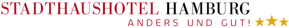 Logo of the hotel –  three Stars and the signature: different and good!